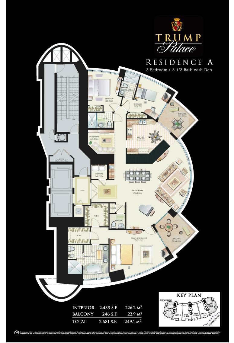 Floor plans trump palace condos for Condo blueprints
